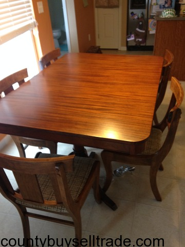 Dining room table 5 chairs union county buy sell trade for 5 foot dining room table